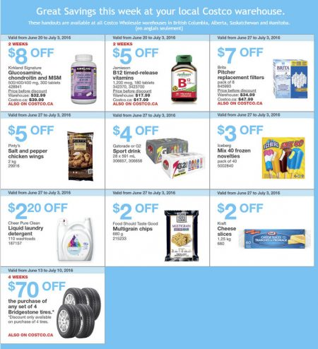 Costco Weekly Handout Instant Savings West Coupons (June 27 - July 3)