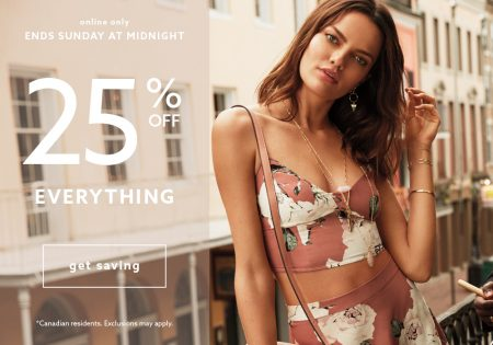 Dynamite Clothing 25 Off Everything + Free Shipping All Orders (June 24-26)