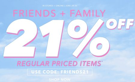 Forever 21 Friends & Family Sale - 21 Off Regular Priced Items (June 23-26)