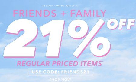 Forever 21 Friends & Family Sale - 21 Off Regular Priced Items (June 23-26)