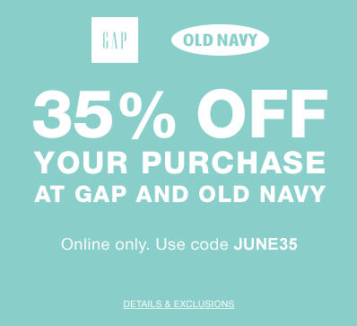 Gap & Old Navy 35 Off Your Purchase Promo Code (June 19-20)
