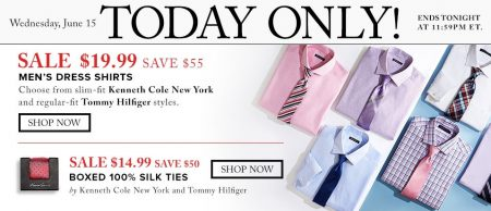 Hudson's Bay Today Only - $19.99 for Men's Dress Shirts - Save $55 (June 15)