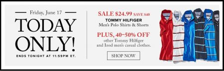 Hudson's Bay Today Only - $24.99 for Tommy Hilfiger Polo Shirts and Shorts - Save $40 (June 17)