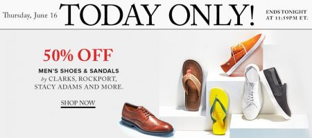 Hudson's Bay Today Only - 50 Off Men's Shoes and Sandals (June 16)