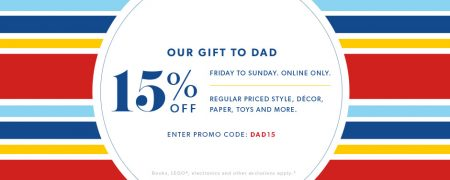 Indigo Extra 15 Off Regular Priced Items Promo Code (Friday-Sunday)