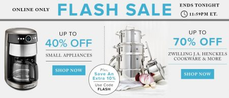 TheBay Flash Sale - Up to 40 Off Small Appliances, Up to 70 Off Cookware (June 8)