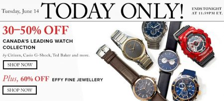 TheBay Today Only - 30-50 Off Watches (June 14)