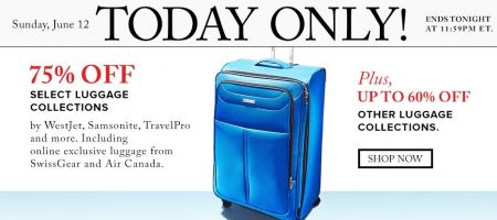 TheBay Today Only - 75 Off Select Luggage Collections (June 12)