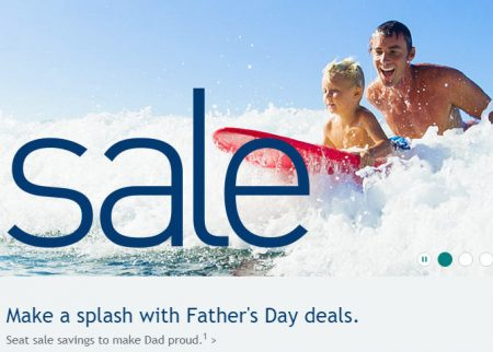 WestJet Father's Day Seat Sale (Book by June 16)