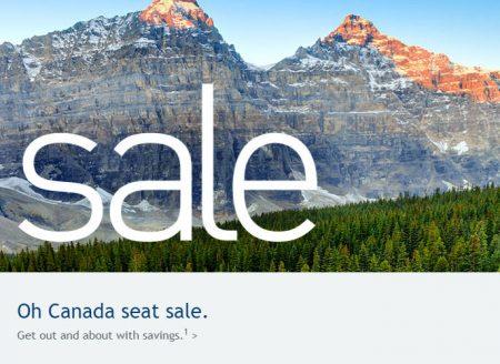 WestJet Oh Canada Seat Sale (June 28-30)