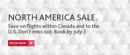 Air Canada North America Sale (Book by July 7)