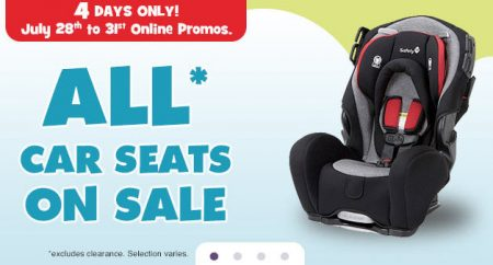 Babies R Us 4-Day Sale - All Car Seats on Sale (July 28-31)