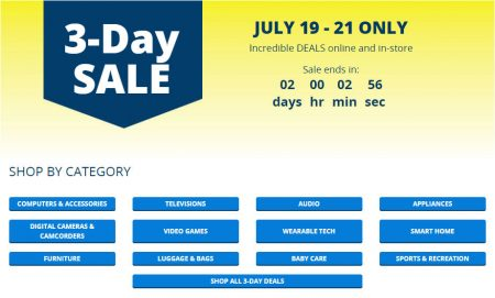 Best Buy 3-Day Sale (July 19-21)