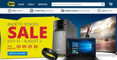 Best Buy Back to School Sale (July 31 - Aug 2)
