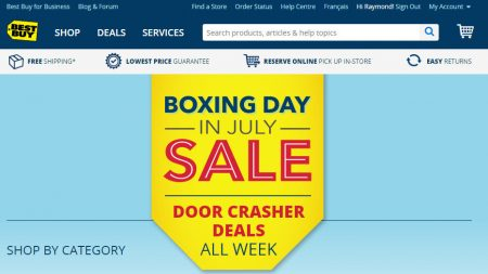 Best Buy Boxing Day in July Sale (July 1-7)