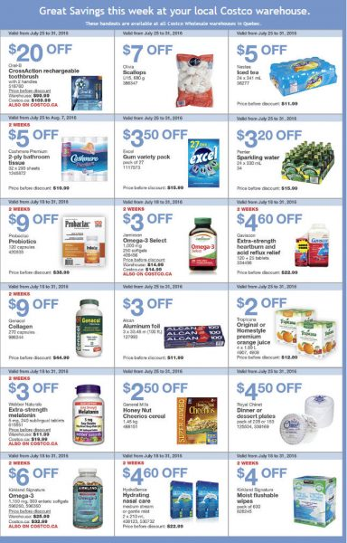 Costco Weekly Handout Instant Savings Quebec Coupons (July 25-31)