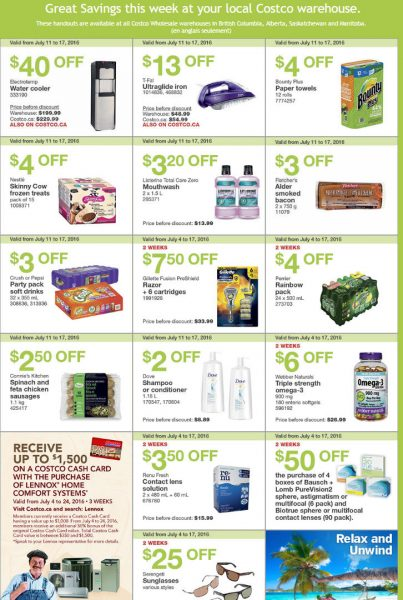 Costco Weekly Handout Instant Savings West Coupons (July 11-17)