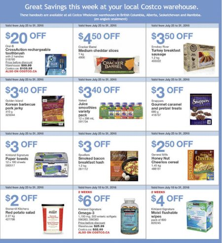 Costco Weekly Handout Instant Savings West Coupons (July 25-31)