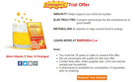 Emergen-C FREE Trial Sample!