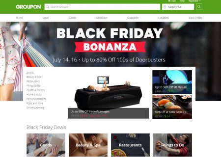 GROUPON Black Friday Bonanza - Up to 80 Off 100s of Doorbusters (July 14-16)