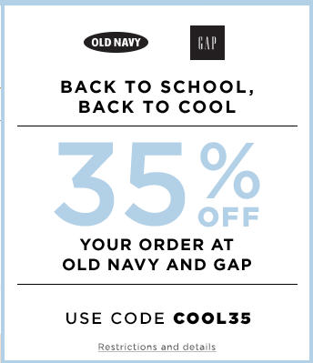 Gap & Old Navy 35 Off Your Purchase Promo Code (July 24-25)