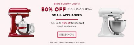 Hudson's Bay 50 Off Select Red & White Small Appliances (July 1-3)