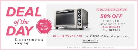 Hudson's Bay Deal of the Day - 50 Off KitchenAid Classic Toaster Oven (July 31)
