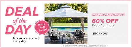 Hudson's Bay Deal of the Day - 60 Off Patio Furniture (July 30)