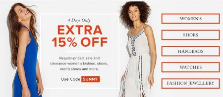 Hudson's Bay Extra 15 Off Promo Code (July 22-25)