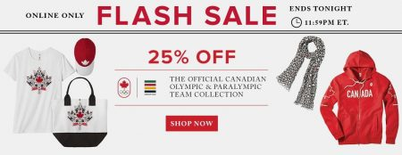 Hudson's Bay Flash Sale - 25 Off Team Canada Gear (July 24)