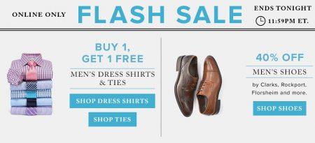 Hudson's Bay Flash Sale - Buy One, Get One Free Men's Dress Shirts & Ties (July 6)