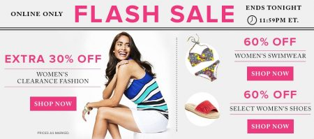 Hudson's Bay Flash Sale - Extra 30 Off Women's Clearance Fashion, 60 Off Swimwear, 60 Off Women's Shoes (July 27)