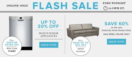 Hudson's Bay Flash Sale - Up to 30 Off Bosch Major Appliances, Up to 50 Off Furniture (July 10)