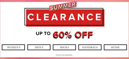 Hudson's Bay Summer Clearance - Save up to 60 Off