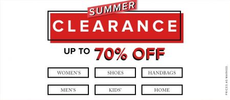 Hudson's Bay Summer Clearance - Save up to 70 Off