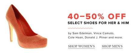 Hudson's Bay Today Only - 40-50 Off Shoes (July 11)