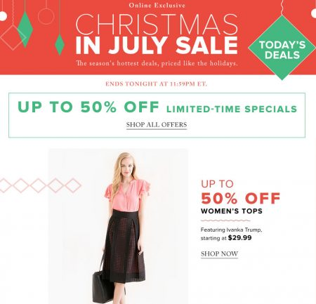 Hudson's Bay Today Only - Up to 50 Off Women's Tops, Up to 40 Off Watches (July 14)