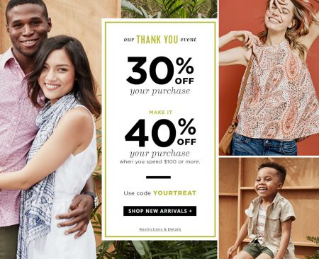 Old Navy 30 Off Purchase, 40 Off $100 Purchase Promo Code (July 14-18)