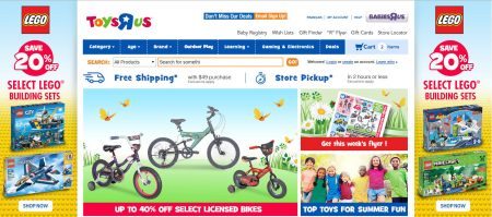 Toys R Us Save 20 Off Select Lego Building Sets