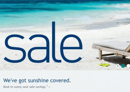 WestJet Sun Seat Sale (Book by July 11)