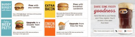A&W Canada New Printable Coupons + Free Root Beer Coupon (Until Aug 28)