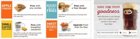 A&W Canada New Printable Coupons + Free Root Beer Coupon (Until Sept 11)