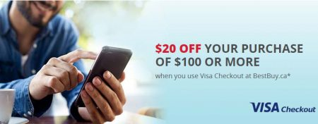 Best Buy $20 Off Purchase of $100 or More with Visa Checkout (Until Aug 31)