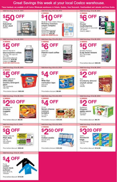 Costco Weekly Handout Instant Savings East Coupons (Aug 15-21)