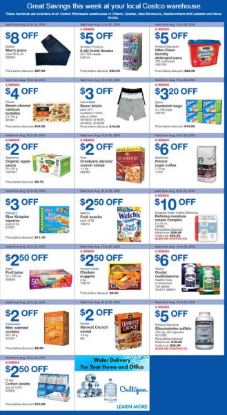 Costco Weekly Handout Instant Savings East Coupons (Aug 22-28)