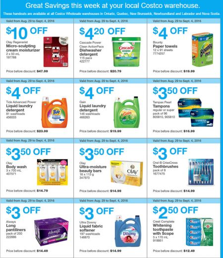 Costco Weekly Handout Instant Savings East Coupons (Aug 29 - Sept 4) A