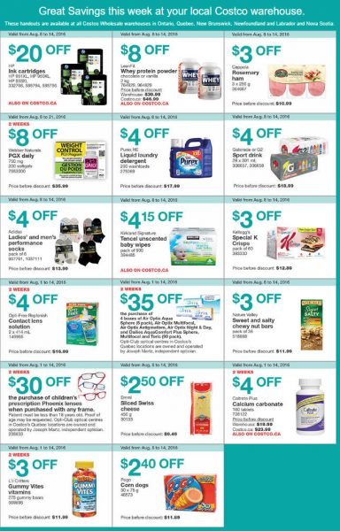 Costco Weekly Handout Instant Savings East Coupons (Aug 8-14)