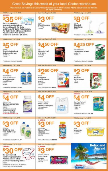 Costco Weekly Handout Instant Savings West Coupons (Aug 1-7)