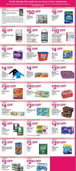 Costco Weekly Handout Instant Savings West Coupons (Aug 15-21)