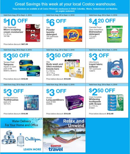 Costco Weekly Handout Instant Savings West Coupons (Aug 29 - Sept 4) A
